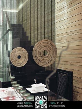 圆形木头装饰图片素材