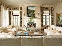 白色时尚家居客厅装饰图片
