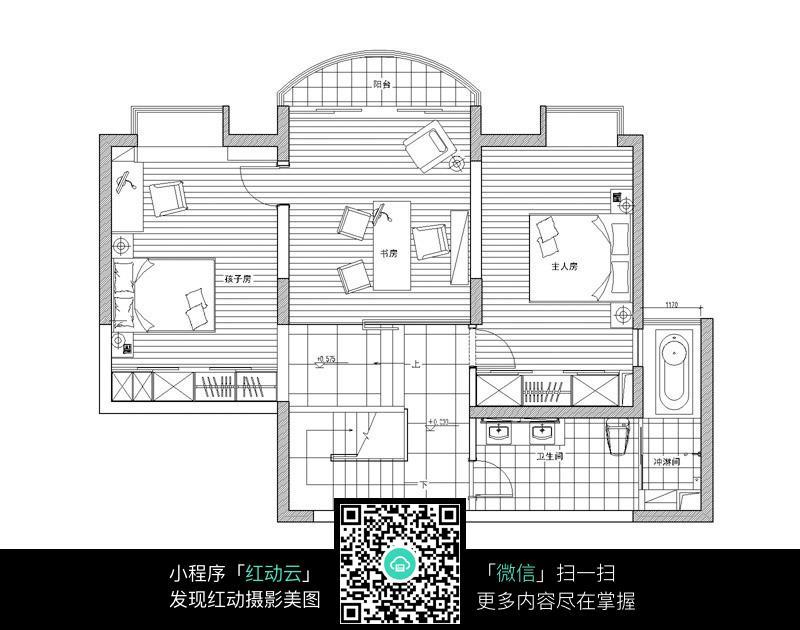 别墅二层室内布局设计平面图图片图片