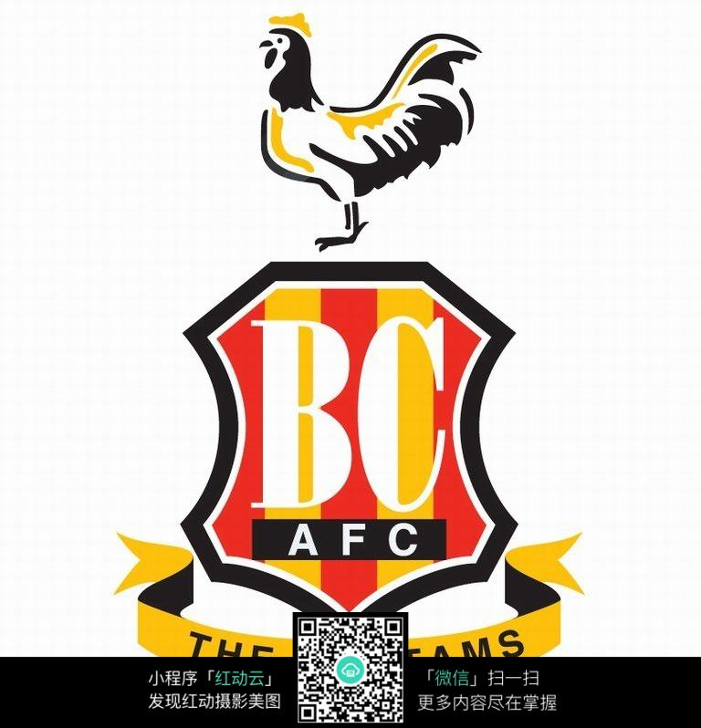 公鸡图案球队logo设计