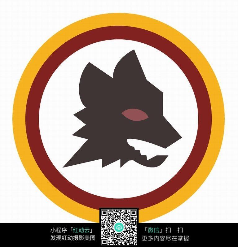 狼标足球队logo设计图片图片