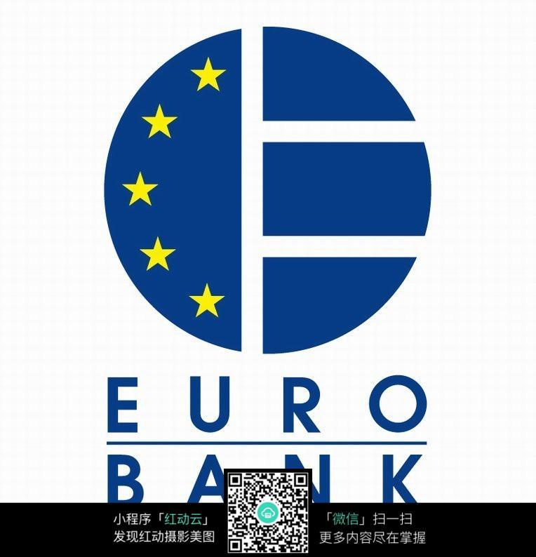 欧洲银行圆形logo设计图片
