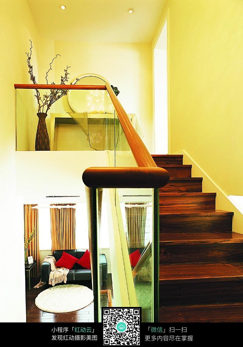 实木地板楼梯设计素材