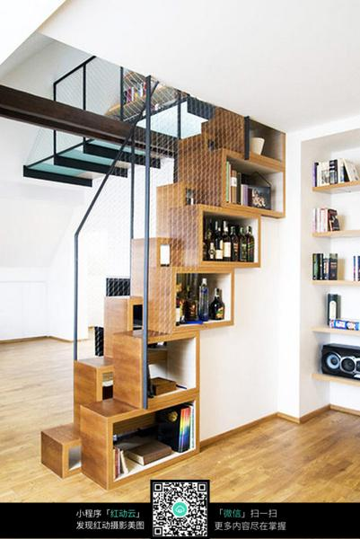 现代创意楼梯收纳柜设计