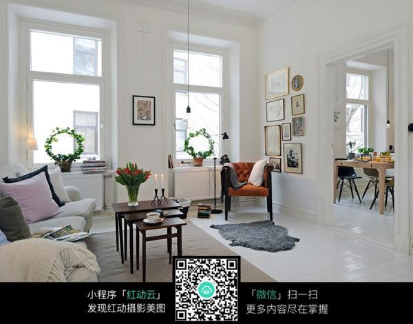 动物皮地毯图片素材_室内设计图片