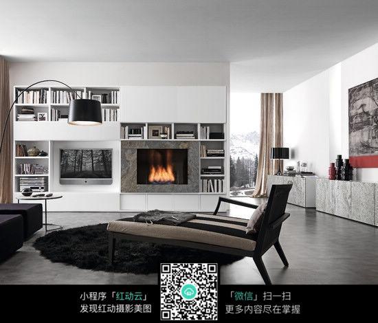 免费素材 图片素材 环境居住 室内设计 房间壁炉装饰