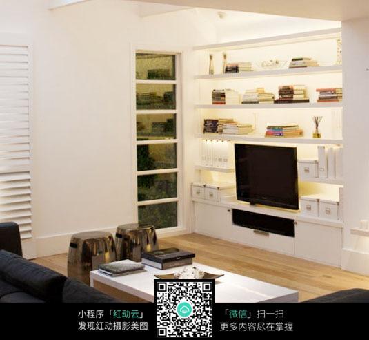 书架电视背景墙