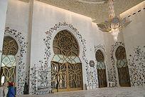 阿拉伯造型洞口上的精美雕花