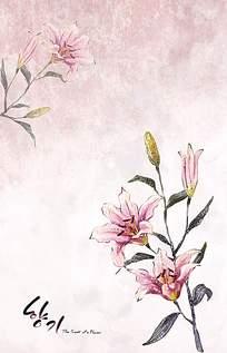 粉色美丽花卉