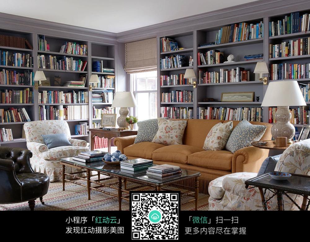 书房沙发摆放_室内设计图片图片