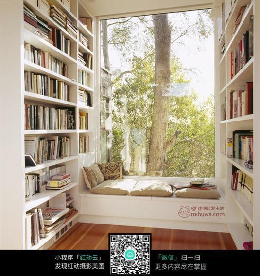 阳台书柜设计_室内设计图片