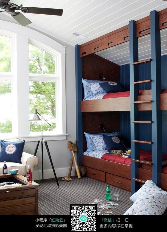 儿童房上下铺卧室装修
