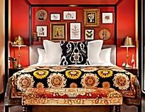 色彩缤纷的卧室装饰图片
