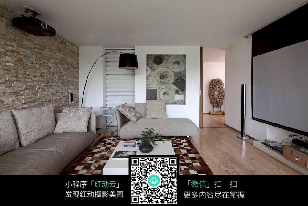 客厅投影墙装修效实图图片