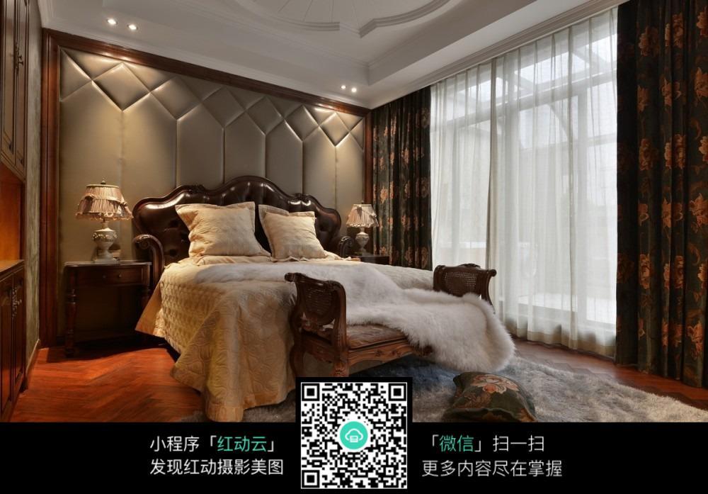 欧式风格卧室内景图图片