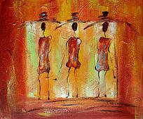 三个非洲女人