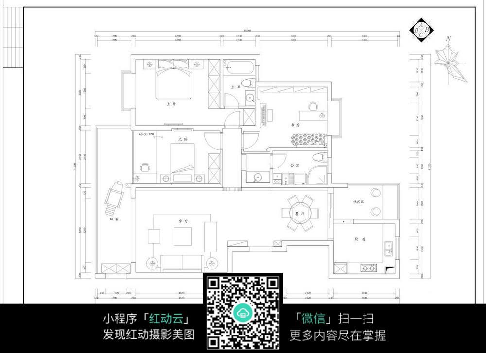 室内家居平面布置图