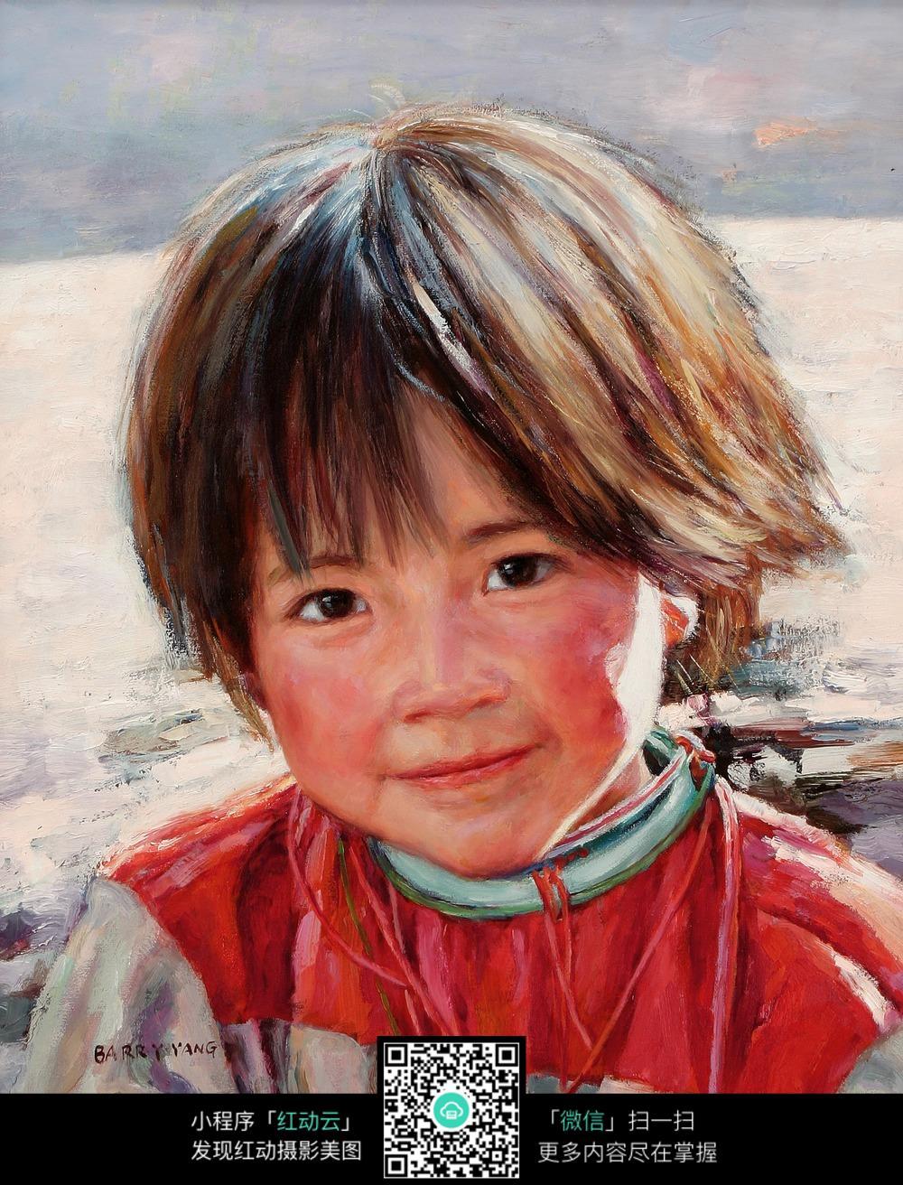 微笑的短发小女孩图片图片