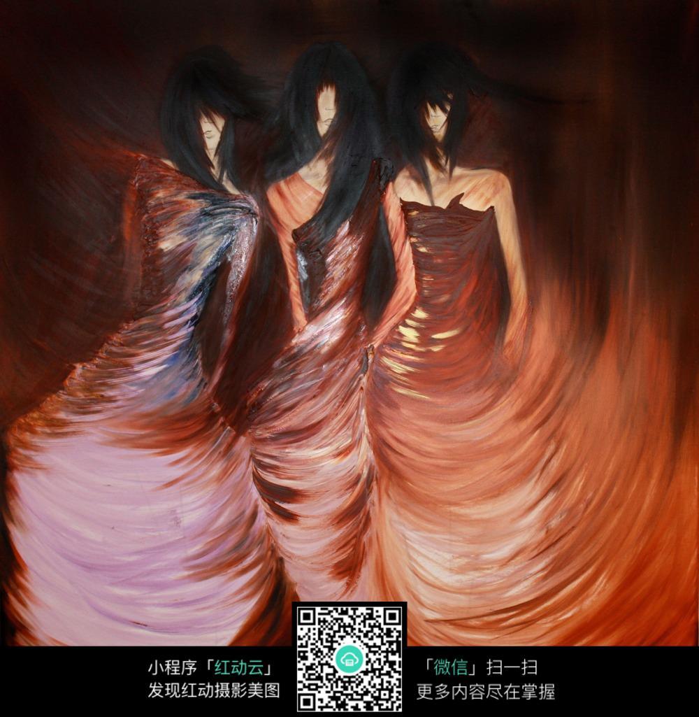 舞蹈的人 红裙子 高清