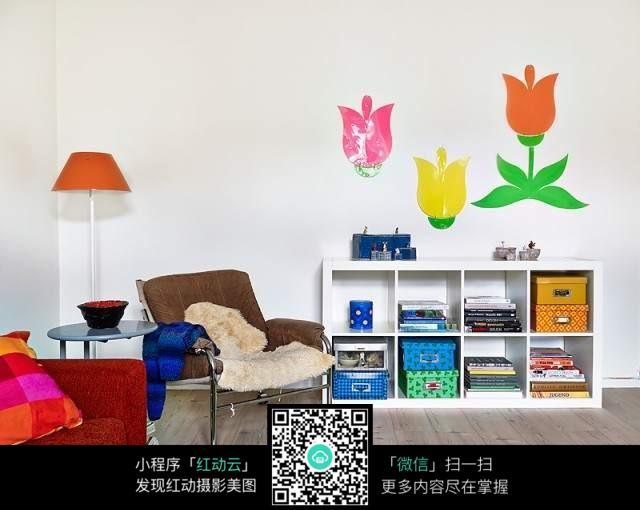 墙壁贴画装修效果图图片