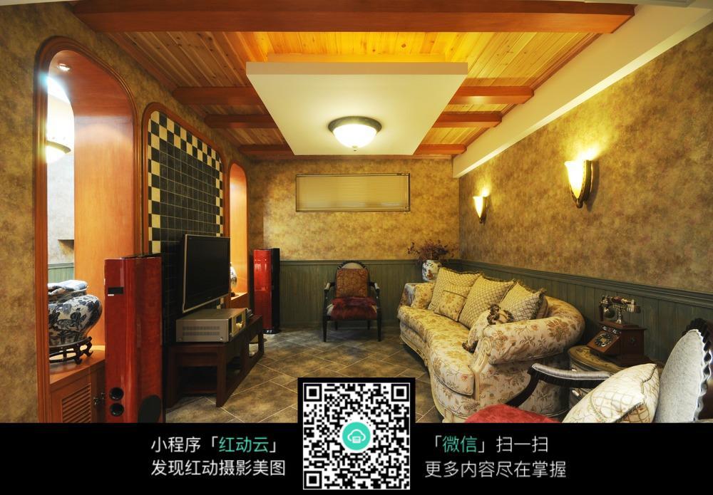 地中海式客厅装修_其他图片