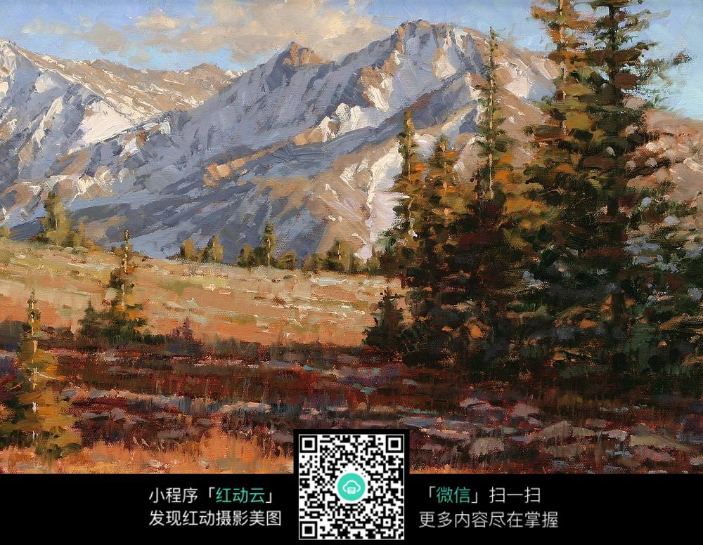 壁纸 风景 油画 1000_776