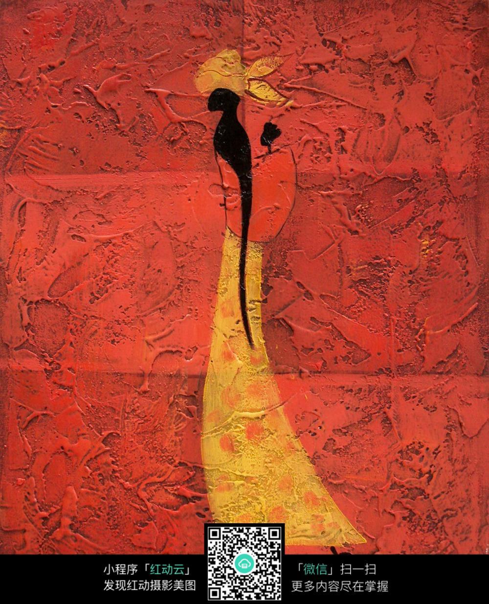 抽象人物装饰画图片