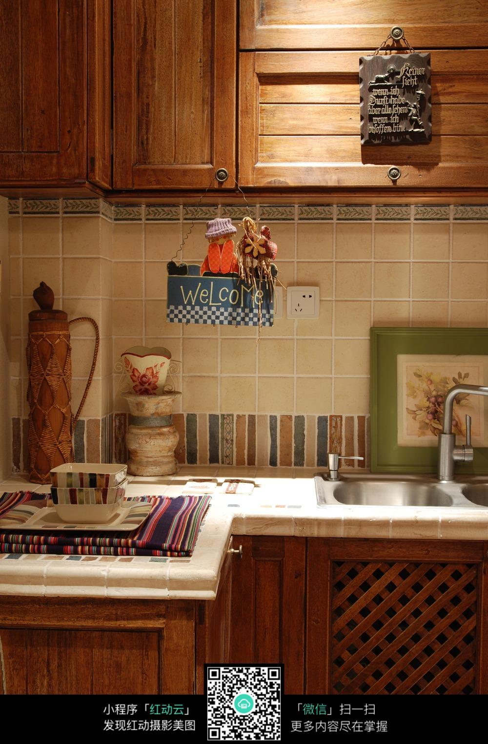 实木厨房装修效果图图片