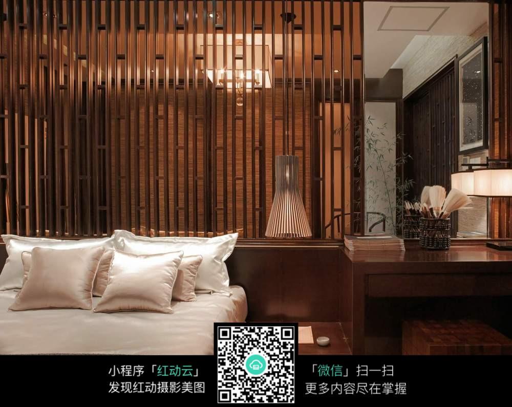 木质古风卧室装修效果图