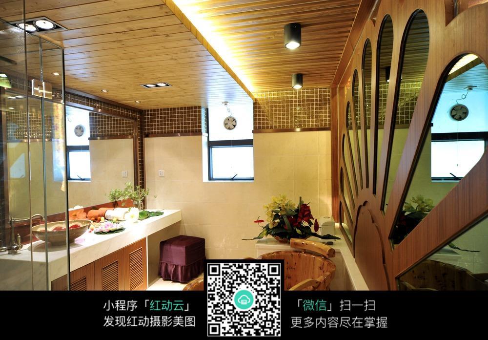 浴室木制浴缸图片