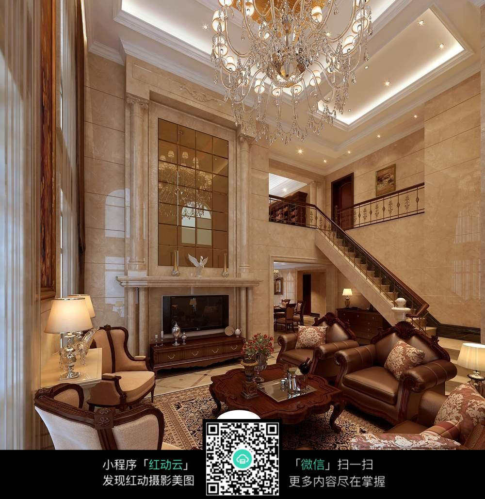 美式别墅装修效果图图片