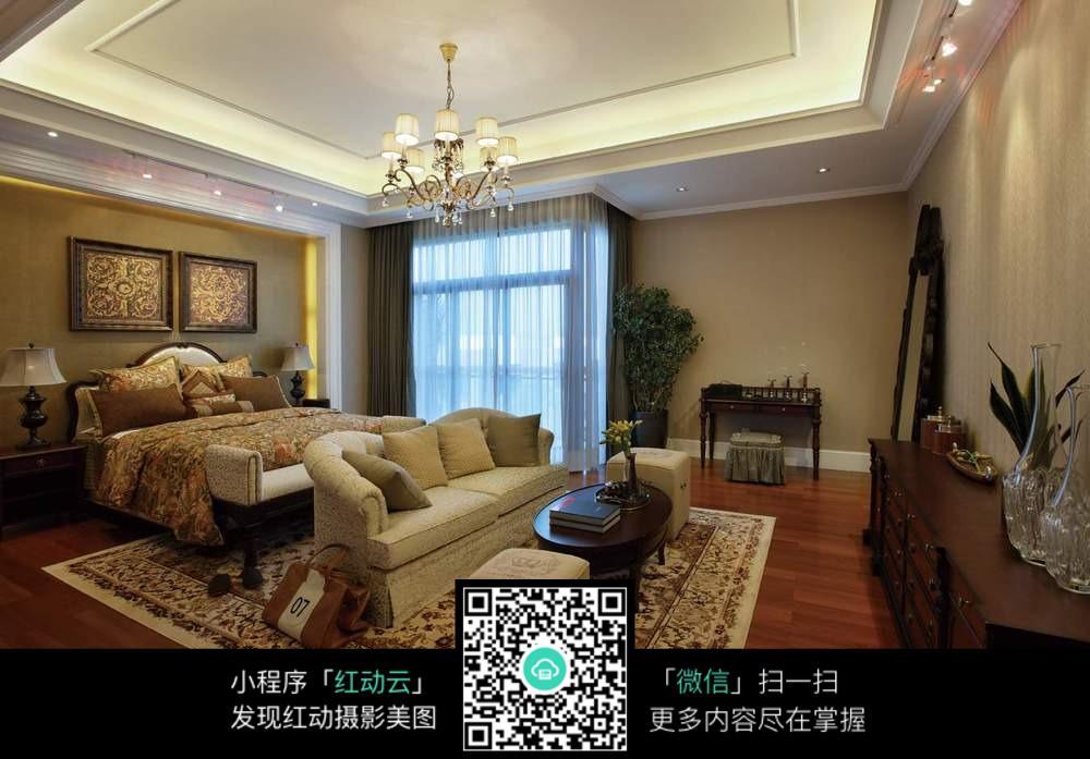 美式大卧室设计图片