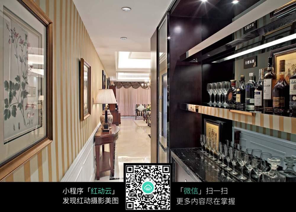 美式风格的酒柜