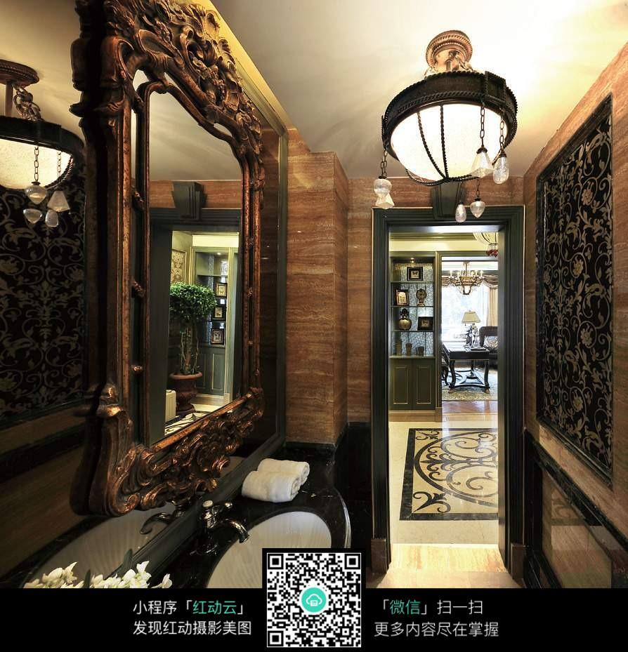 美式室内装饰洗手间装潢图片平面设计中的表现技法图片