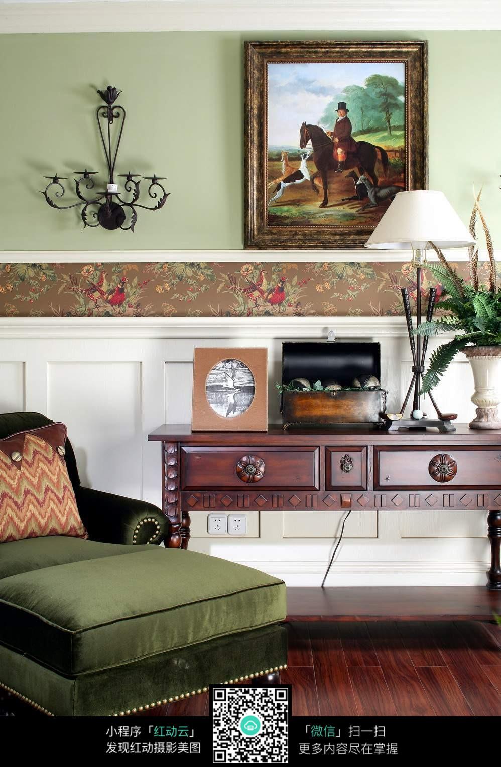 墨绿色沙发设计