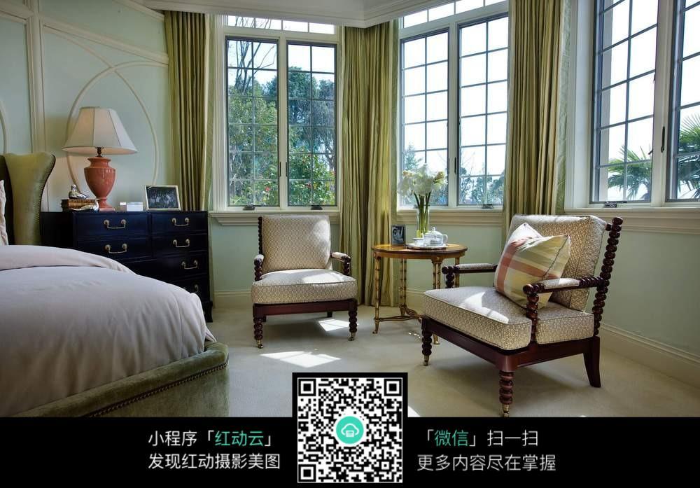 舒适复古卧室装修效果图图片免费下载 编号5640335 红动网