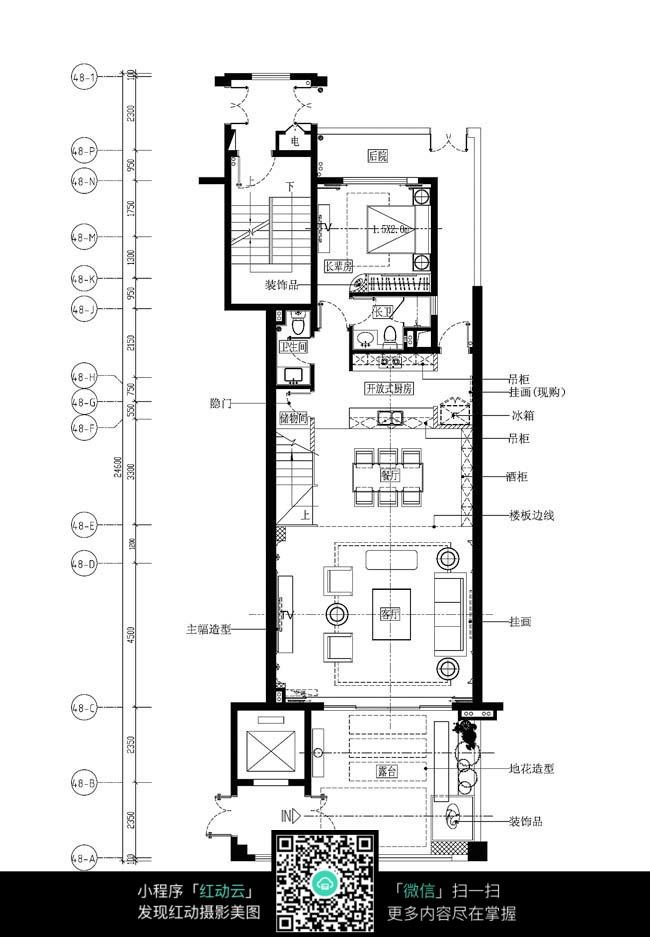 cad家装平面设计图纸?