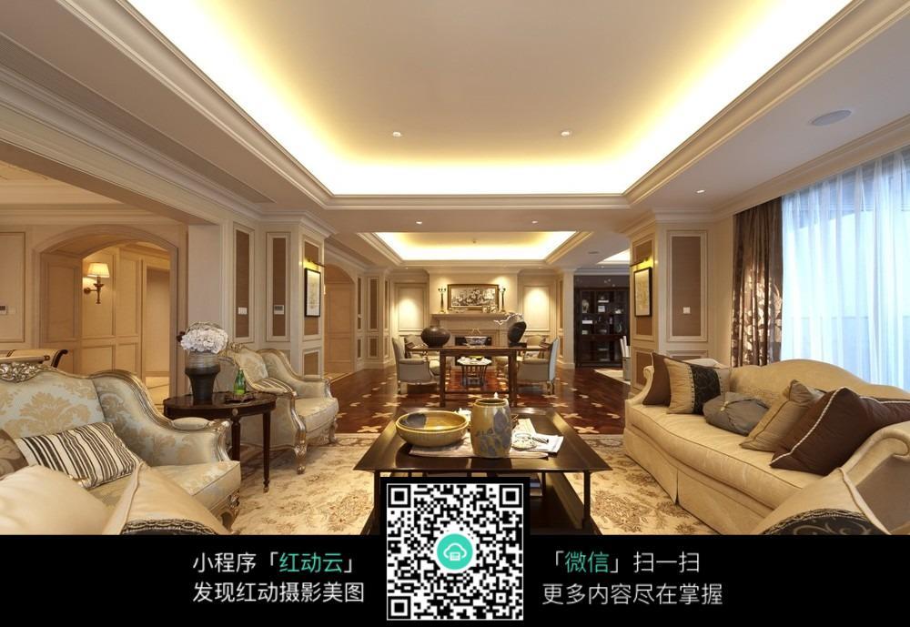 欧式客厅效果图图片