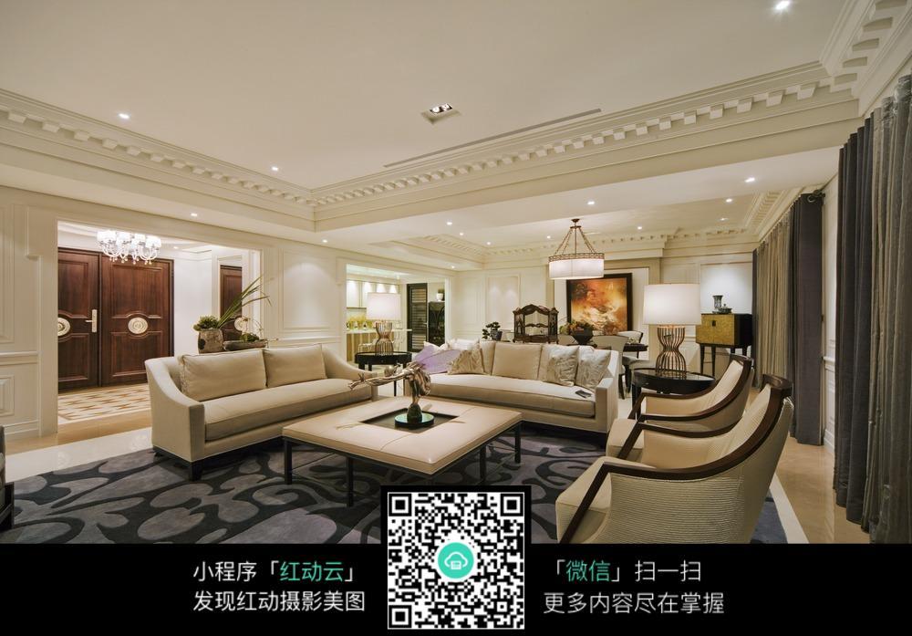 欧式文艺的客厅设计图片