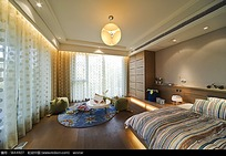 气质温馨甜美卧室装修效果图