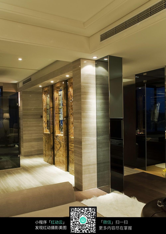 卧室浴室通道设计素材图片