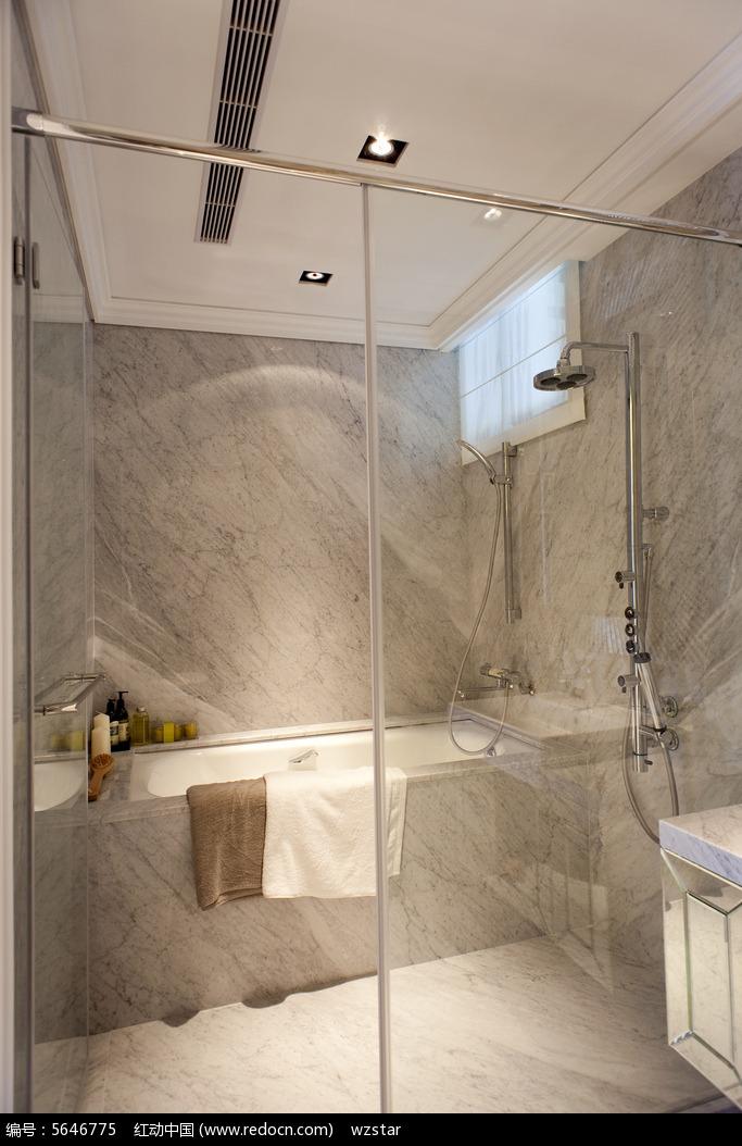 浴室大理石浴缸图片