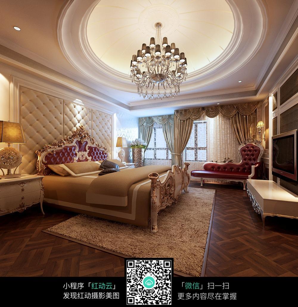 华美气质吊灯a气质家具装修效果图卧室装修网图片