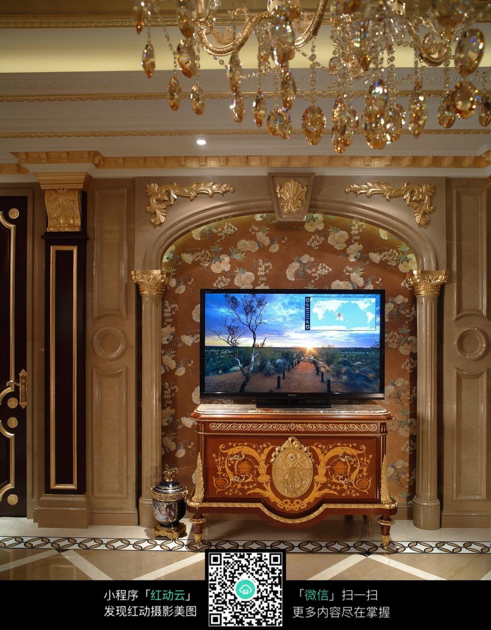 欧式电视墙背景装修图片图片