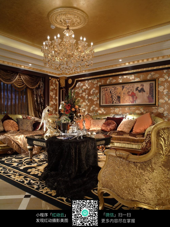 欧式客厅沙发背景墙装修图片