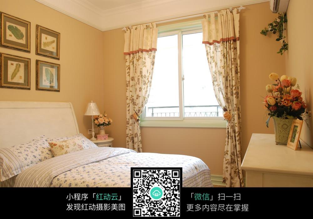 温馨女生单人卧室装修效果图图片免费下载_红动网