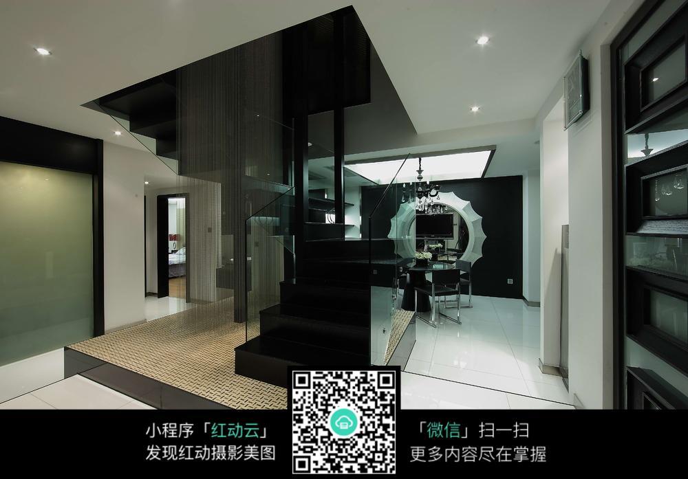 现代风格黑色大理石楼梯设计素材图片免费下载 编号5662503 红动网
