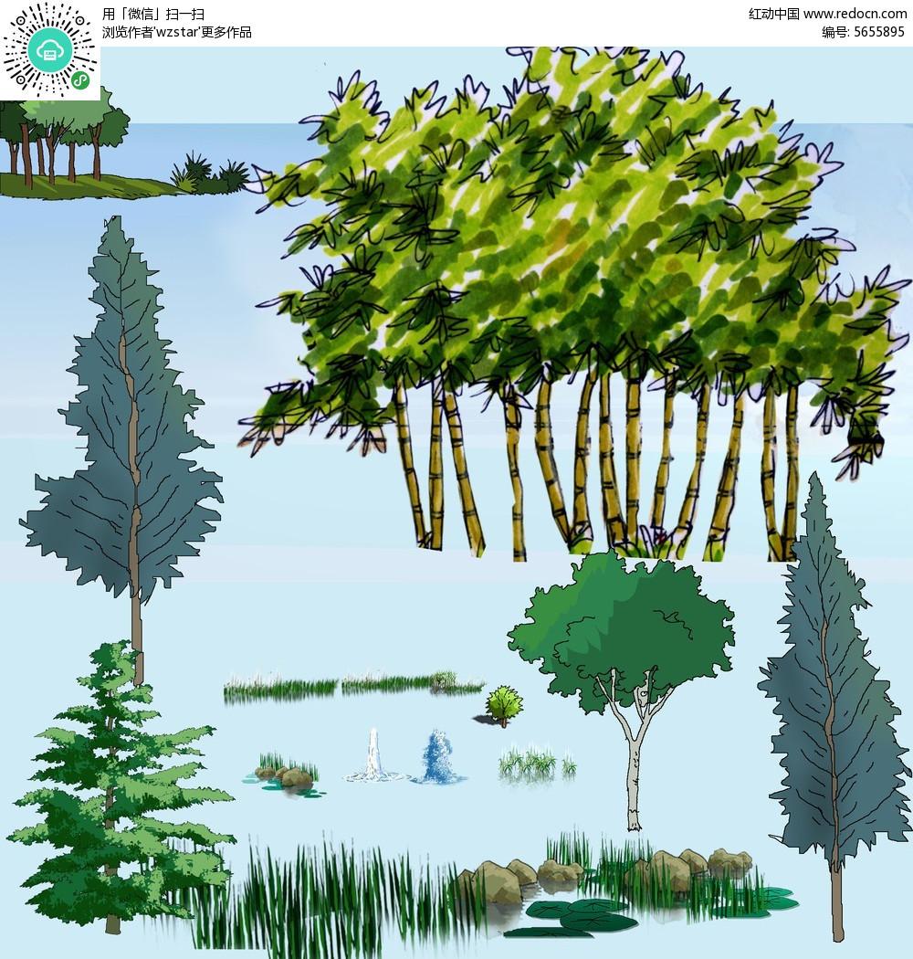 园林景观彩平