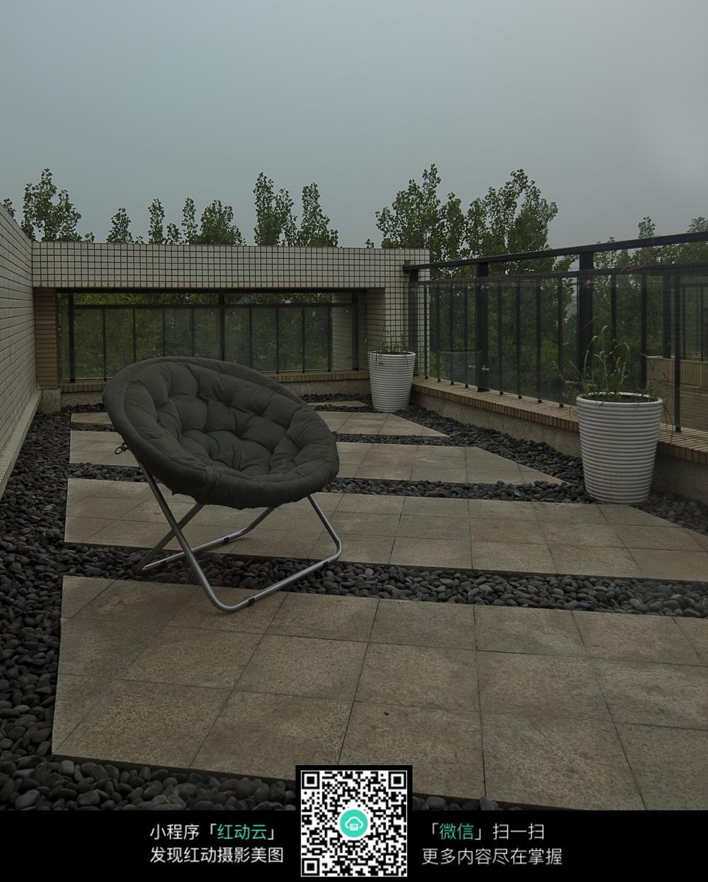 别墅天台的室外景观