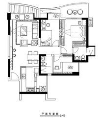 豪华别墅室内平面布置图